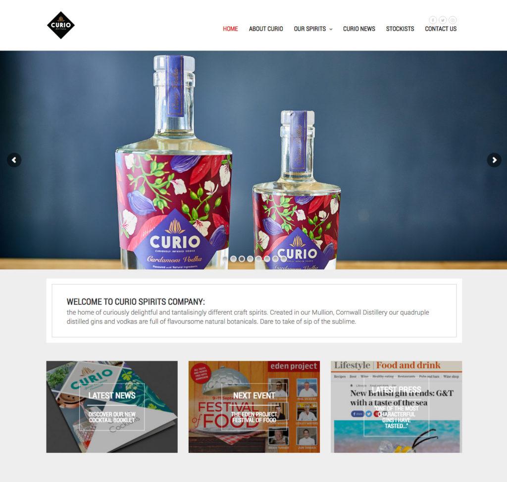 A new website for Curio Spirits