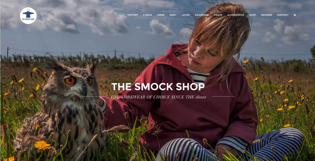 A new website for The Smock Shop, St Ives