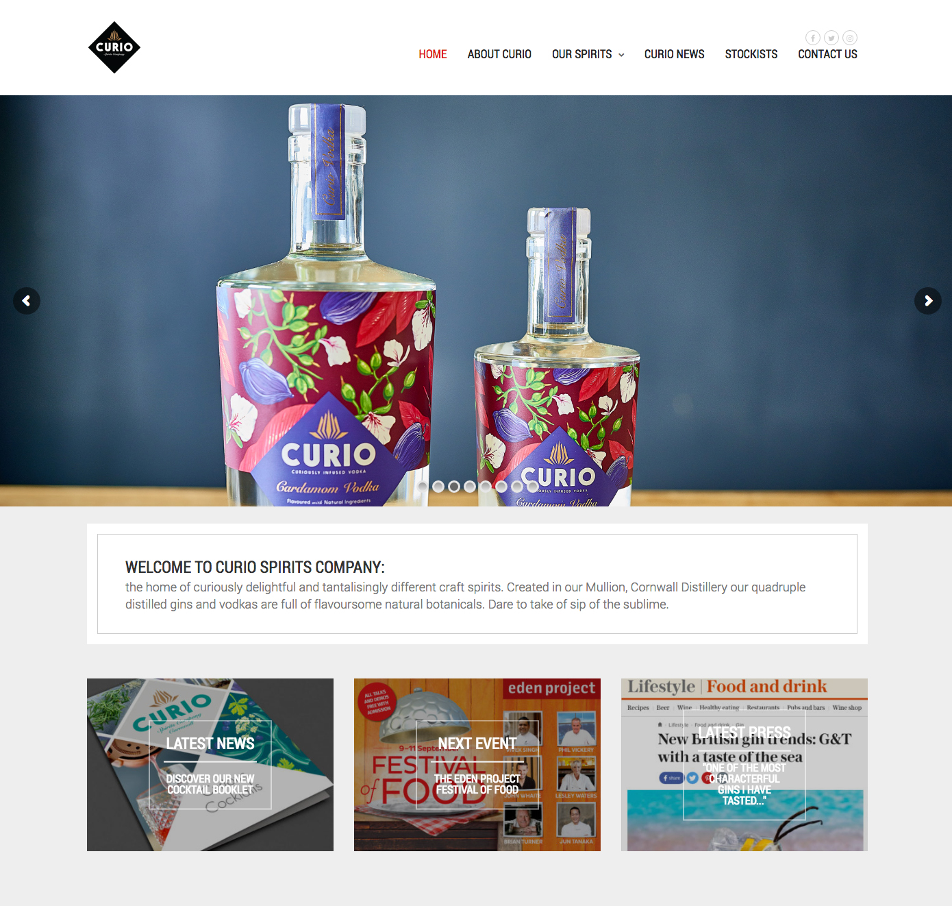 A new website for Curio Spirits