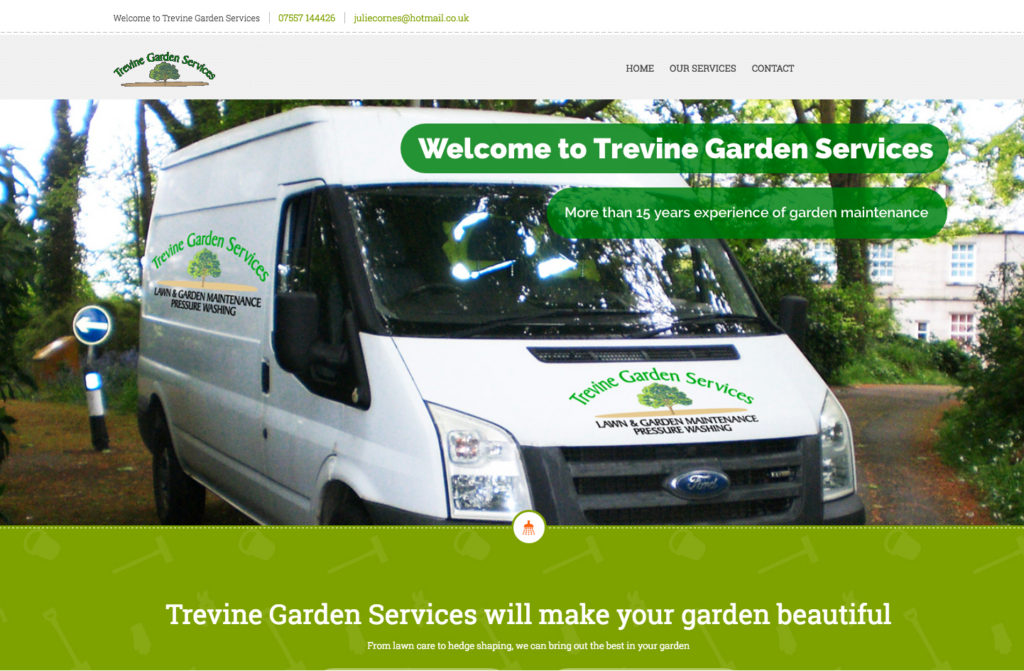 A new website for Trevine Garden Services