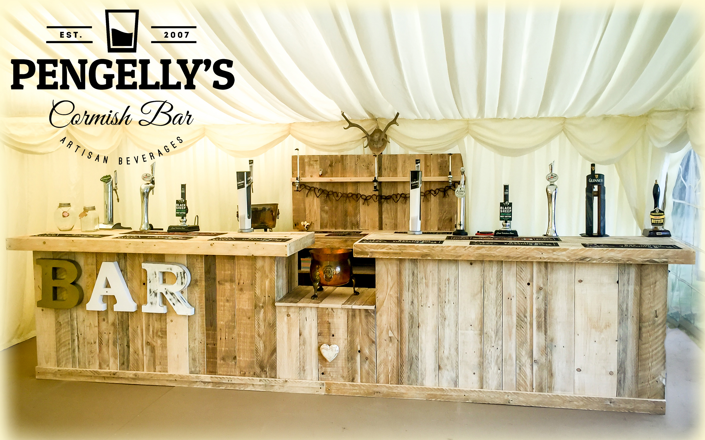 New website for a mobile bar in Cornwall