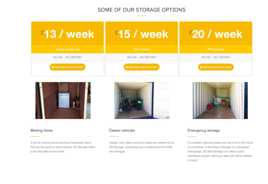 A new website for DG Self Storage
