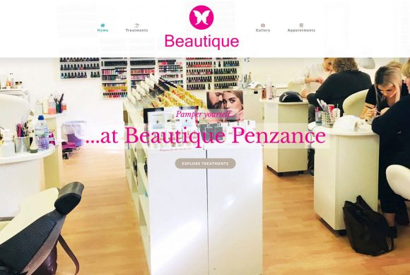 New website for Beautique Cornwall