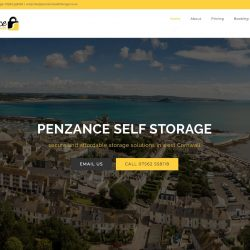 New website for Penzance Self Storage