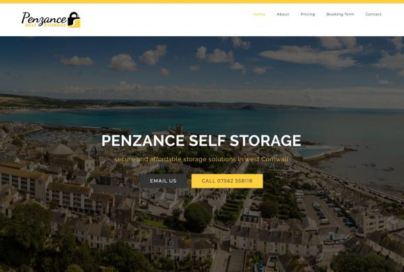 New website for Penzance Self Storage