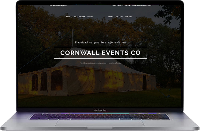 marquee-company-website