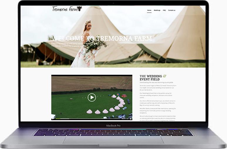 cornwall wedding website