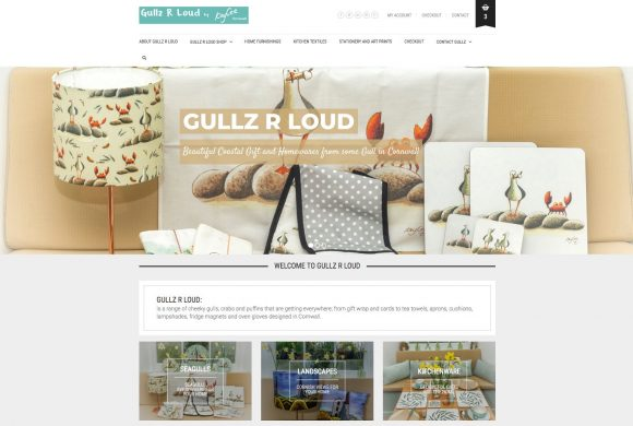 GullzRLoud, a quirky online shop selling cheeky seagull, crab and puffin goodies
