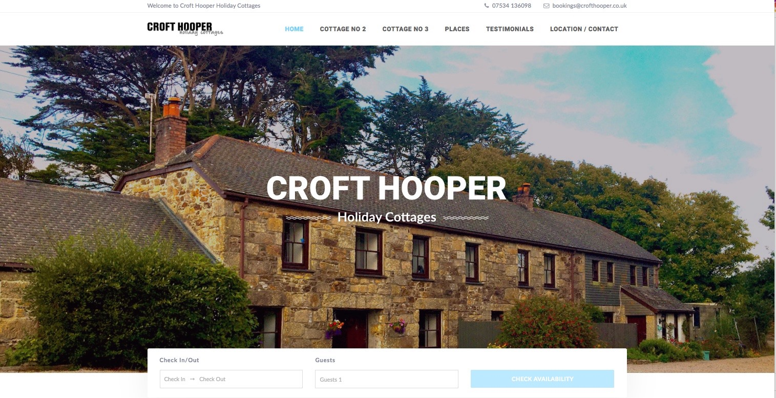 holiday home website cornwall