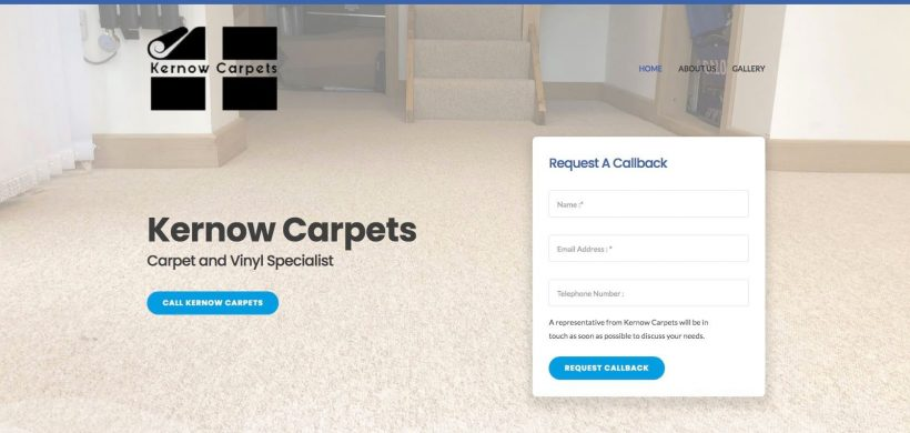 Kernow Carpets, a new website for a our favourite carpet fitter